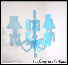 Crafting in the Rain: Paper Chandelier