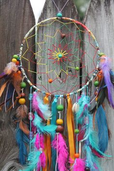Medium Tie Dye Spirit Dream Catcher by tiedyespirit on Etsy Dream Catcher Patterns, Dream Catcher Craft, Dream Catcher Boho, Dream Catchers, Hippie Room Decor, Hippy Room, Boho Decor, Hippy Life, Los Dreamcatchers