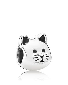 PANDORA Charm - Sterling Silver Curious Cat