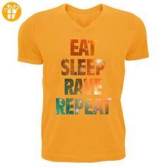 Eat sleep rave repeat hipster dance graphic Men's V-Neck T-shirt XX-Large (*Partner-Link)