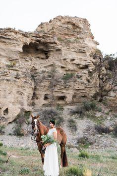 Boho Chic Bridal Style | Mt. Charleston Las Vegas Bohemian Vibed Desert Wedding Anniversary | Photograph by Kristen Krehbiel Photography  See The Full Wedding at http://storyboardwedding.com/mt-charleston-las-vegas-bohemian-desert-wedding/