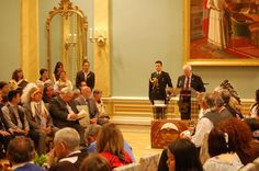 Governor General David Johnston addressed a room full of dignitaries, including honourary witnesses, during the TRC's closing ceremony at Rideau Hall in Ottawa on June 3, 2015..