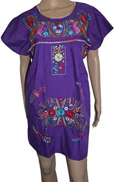 Embroidered Mexican Peasant Half Mini Short Dress Tunic (Purple size 2X) Lily Cruz http://www.amazon.com/dp/B00L5R8UXQ/ref=cm_sw_r_pi_dp_y9Xrvb0TEVVZW