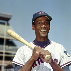 Ernie Banks with that legendary smile.