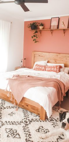 Relaxing earthy morrocan master bedroom with rust and french linen Bedroom Decor For Small Rooms, Room Design Bedroom, Room Ideas Bedroom, Bedroom Themes, Home Decor Bedroom, Master Bedroom, Peach Bedroom, Salmon Bedroom, Earthy Bedroom