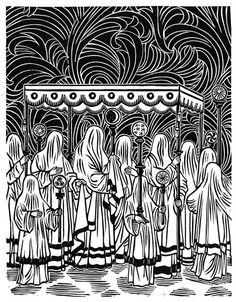 Procession Relief Print 11 x 14 by DamarakTheDestroyer on Etsy