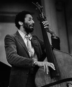 Ron Carter playing stand-up bass