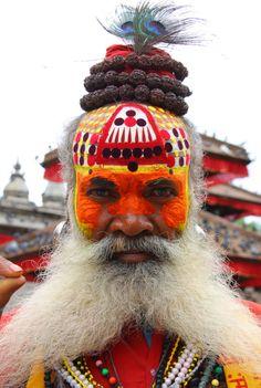 Nepal | Sadhu. Durbar Square, Kathmandu | ©neiljs, via flickr