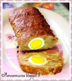 Polpettone di carne con uova sode   Morena in cucina
