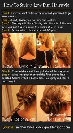 Low Bun Hairstyle | Great how to tutorial for a low bun. #youresopretty #purebarrefortmill