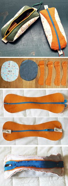 Sewing Bags - Handmade DIY Zipper Pencil Case Tutorial in Pictures. Pencil Case Tutorial, Zipper Pencil Case, Diy Pencil Case, Pencil Case Pattern, Pencil Cases, Wallet Tutorial, Sewing Tutorials, Sewing Patterns, Sewing Projects