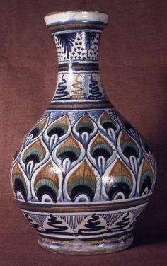 #Maiolica -- Apothecary Bottle -- Circa 1500 -- Italian -- The Metropolitan Museum of Art
