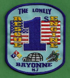 BAYONNE NEW JERSEY ENGINE 1 RESCUE 1 COMPANY FIRE PATCH