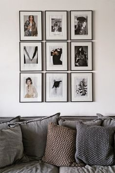 Framed Art and Photographs Gallery Wall