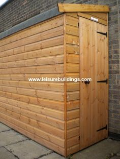 12ft x 3ft Streamline narrow shed in T Shiplap cladding-- another kayak/bike shed solution