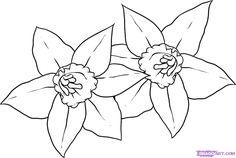 Drawing a pretty flower easy step 2 dragoart pinterest pretty 7180 how to draw daffodils step 5g 1177791 mightylinksfo