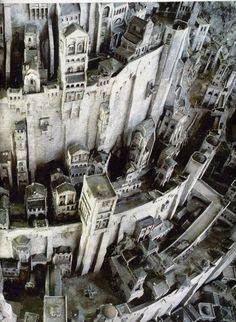 Minas Tirith, White City of Gondor ~ Lord of the Rings Aragorn, Legolas, Gandalf, The Lord Of The Rings, Fellowship Of The Ring, Narnia, Minas Tirith, O Hobbit, J. R. R. Tolkien