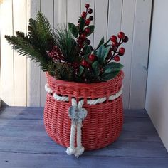 Shop unique handwoven decorative basket for the Christmas trees, gifts under the Christmas tree or at will created using hand rolled straws from eco friendly paper Christmas gifts Here is a gift for purchasers who bought any other item in my shop: