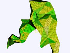 """Magics Remesh function produces lovely debug coloring """"glitch"""" (intentionally so, but still. Digital Fabrication, Glitch, 3d Printing, Coloring, Magic, Prints, Impression 3d, Hacks"""