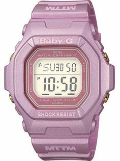 Casio Baby-G Married to the Mob - Digital Display - Pink Strap - World 307c9eec33