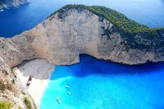 Zakynthos, Greece. Another place I'll have to bribe a Greek family member to take me to.