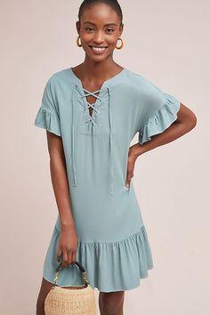 f2f7126cb29a Slide View  1  Michael Stars Ruffled Hem Dress Blue Green Dress