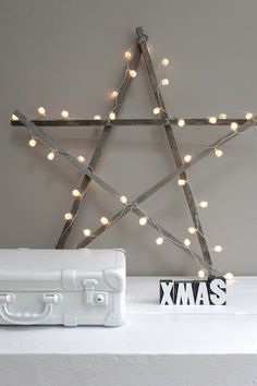 Zo gezelig! X-MAS star met lampjes. Te koop in m'n shop. www.jotte.nu