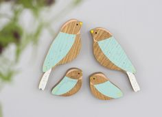 Wooden wall birds family sets Anna Wiscombe