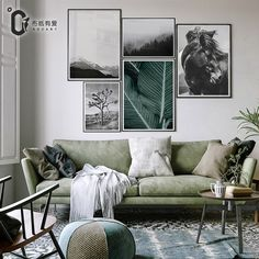 Cheap paintings wall decor, Buy Quality giclee print directly from China canvas painting Suppliers: Green and black modern black and white flower canvas painting Wall Decor Giclee Print No Frame