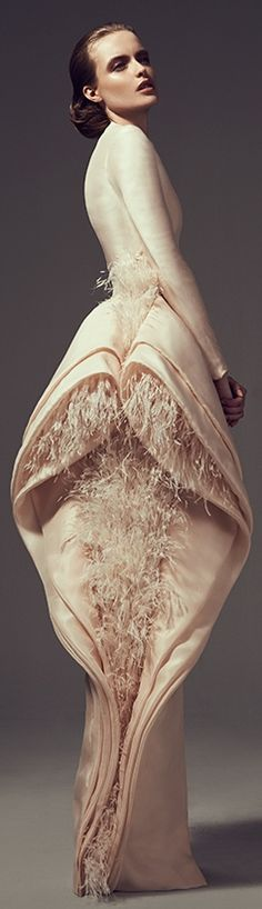 Ashi Studio Couture 2014  This is so visually engaging and even though I'd never wear it, it really fosters a lot of great design ideas for me. Love the fabric as well.