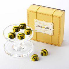 John & Kira's salted caramel honey and chocolate bees