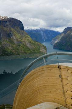 Aurland Look Out, Aurland, Norway by Saunders arkitektur & Wilhelmsen arkitektur