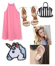 """Untitled #14"" by roseat98 on Polyvore featuring MANGO, Aquazzura, Givenchy, Hipstapatch and Otis Jaxon"