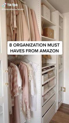 Best Amazon Buys, Best Amazon Products, Easy Diy Room Decor, Cute Room Decor, Closet Organization, Organizing, Clothing Organization, Bedroom Organisation, Organized Bedroom