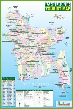 Map of bangladesh capital dhaka principal languages bangla tourist map of bangladesh gumiabroncs Image collections