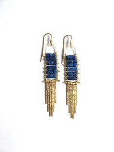 Demimonde Lapis Earrings