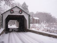 Charming covered bridge!