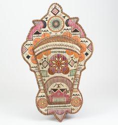 Micmac (Nova Scotia), Wall Pocket, porcupine quills/birchbark, c. Native American Photos, Native American Crafts, Native American Design, Nativity Crafts, Weaving Textiles, Indigenous Art, Modern Artists, Native Art, New Print