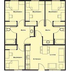 Plan Maison Avec Jardin Interieur Plan Maison En U Plan