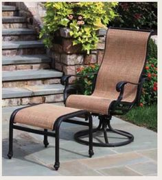 closeout vintage cast aluminum outdoor swivel rocker swivel chair