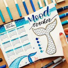 Tracker Mood, Bullet Journal Mood Tracker Ideas, Bullet Journal Titles, April Bullet Journal, Bullet Journal Cover Ideas, Bullet Journal For Beginners, Bullet Journal Monthly Spread, Bullet Journal Banner, Bullet Journal Notebook