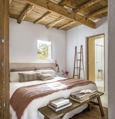 〚 Lovely summer villa with views on the site of old farmhouse in Ibiza 〛 #country #bedroom #beams #natural #interiordesign #homedecor #idea #inspiration #cozy #living #space #home #decor #style #interior #design Cute Apartment, Apartment Bedroom Decor, Room Decor Bedroom, Home Bedroom, Bedroom Furniture, Bedroom Signs, Bed Room, Bedroom Ideas, Ibiza Style Interior
