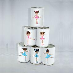 6 Petites Étiquettes Danseuses Chamboule-tout : Jeux, jouets par creerpourvous