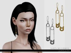 Safety Pin Earrings by Leah Lillith - Sims 3 Downloads CC Caboodle