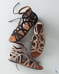gladiator sandals. love leather and sandals. too bad they cost half a soul and my first born child.