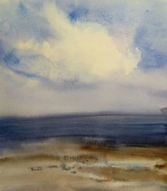 #облако #акварель #watercolorpainting #watercolor #aquarelle #landscape #vkpost