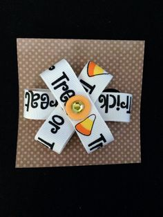 Trick-or-Treat Hairbow on Etsy, $5.00