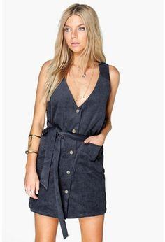 Rebecca Button Front Cord Dress