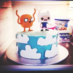Jake & Finn Adventure Time Cake I made for my twin sisters' 13th Birthday