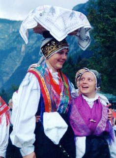 dancers at festival, bohinj, slovenia,